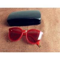 20180904155408274太阳镜女潮韩版圆脸眼镜2017新款墨镜男 海洋红 FF同款