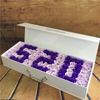 香皂花礼盒 生日礼品仿真玫瑰花束 香皂花礼盒创意生日情人节礼物送爱人