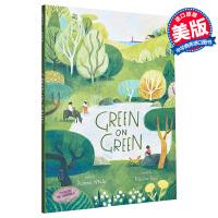 【中商原版】Felicita Sala:踏青 Green on Green 精品绘本 感恩 家庭 大自然 季节 节日 绘
