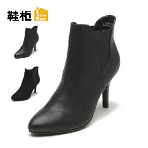 【双十一狂欢购 1件3折】Daphne/达芙妮旗下鞋柜 秋冬季休闲短靴细跟性感短女靴