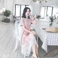 【新品特惠】 哺乳装外出时尚短袖上衣哺乳衣服夏季韩版2019新款哺乳连衣裙潮妈