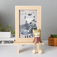 创意相框个性复古木质6寸摆台可爱ins相架摆件铁艺画框水培简约