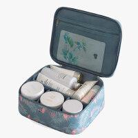 化妆盒便携带镜子的 ins网红化妆包女便携韩国简约大容量化妆袋箱少女心洗漱品收纳盒