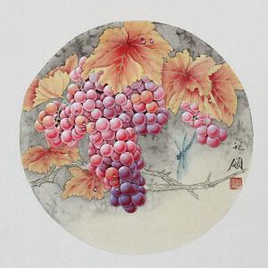 精品工笔画《葡萄》胡记领 ML2224 学院派画家 山东美协