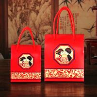 结婚用品盒子创意婚庆礼盒袋中式婚礼批发纸盒