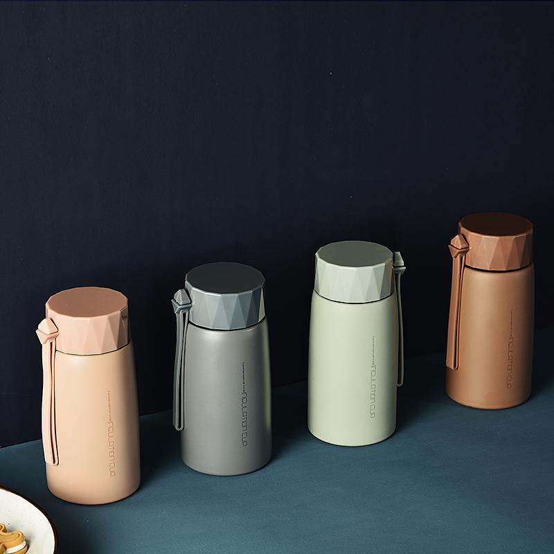 森烁 创意304不锈钢保温杯日用品时尚礼品杯手提水杯280ML