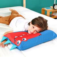 水星家纺 儿童抗菌乳胶枕芯泰国天然乳胶枕全棉卡通印花乳胶枕头儿童枕芯 扁扁