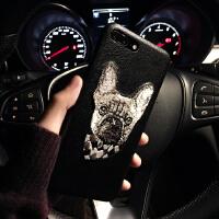 新款苹果XS Max手机壳潮牌iphone7plus刺绣狗狗6splus个性时尚8p潮男6s同款苹果 7plus/8p
