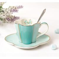 骨瓷日式下午茶茶具咖啡杯套装咖啡杯碟陶瓷花茶杯子红茶杯礼盒