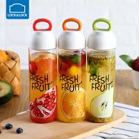 乐扣乐扣水果杯子塑料带盖水杯便携随行杯运动水壶创意女学生韩版