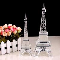 巴黎水晶玻璃埃菲尔铁塔模型 欧式摆件工艺品家居摆设 新婚礼物创意 特