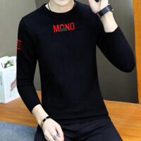 中大童毛衣男秋冬季套头韩版个性帅气高中学生潮流男孩针织衫线衣 C黑色