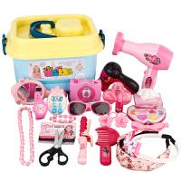 仿真儿童化妆品礼盒套装3-4-5岁6小女孩女童公主梳妆台过家家玩具抖音 +宽边发箍