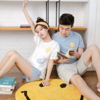 【新品特惠】 2套价猫咪情侣睡衣夏季纯棉短袖 韩版可爱少女薄款家居服套装男 7809(2套价 猫咪情侣款)