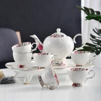 20190304165044240欧式陶瓷咖啡杯碟套装带壶配托盘英式家用陶瓷下午茶茶具套装 8件