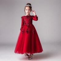 儿童礼服公主裙女童花童蓬蓬纱婚纱演出服生日小主持人晚礼服冬