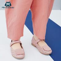 【618年中庆 限时秒杀价:119】迷你巴拉巴拉女童宝宝2020夏季新款魔术贴凉鞋百搭单鞋儿童公主鞋