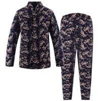 内蒙古冬季棉袄棉裤套装中老年女士妈妈驼绒加绒加厚加肥加大