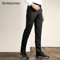 BOSSsunwen男士时尚休闲西裤透气舒适百搭男士修身长裤休闲裤