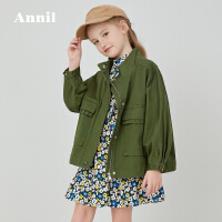 【活动价:269.5】安奈儿童装女童工装外套宽松2020春季新款廓形感洋气女童外套防风