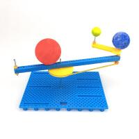 太阳系模型 太阳地球月亮三球仪儿童小学生手工日地月运行仪太阳系行星模型
