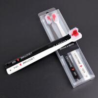 2支日式创意爱心情侣牙刷软毛成人家用可爱超细软成人款牙刷套装