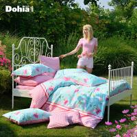 多喜爱 纯棉斜纹四件套 韩版床品家纺斜纹套件田园床上用品洛丽塔
