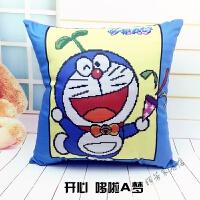 哆啦A梦十字绣抱枕套件学生 儿童枕头客厅沙发靠垫机器猫
