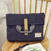 男士包包韩版单肩包斜挎包帆布邮差包多用商务手提包跨背包