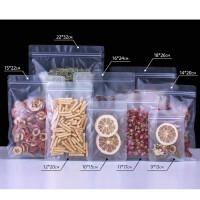 磨砂自封袋透明荚链食品袋子零食茶叶产品包装袋曲奇饼干密封口袋收纳用品 22*32cm(100个)