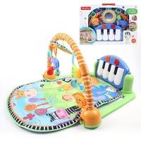健身架美版粉色BMH4849婴儿宝宝脚踏钢琴音乐游戏毯W2621
