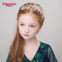 儿童头饰女孩发饰发箍女童头箍发卡发夹花童配饰水钻生日演出饰品