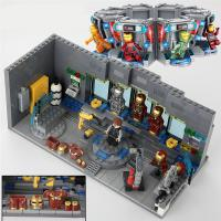 拼装乐高积木复仇者联盟4钢铁侠机甲基地模型3玩具人仔拼图5-10岁