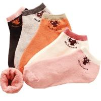 袜子女秋冬款短袜低帮保暖可爱毛圈加绒毛巾袜秋冬季韩版 【】 10双加厚+2双常规棉袜