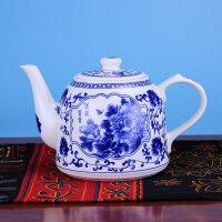 景德镇陶瓷茶壶大容量饭店凉水壶大号冷水壶青花提梁泡茶壶茶水壶