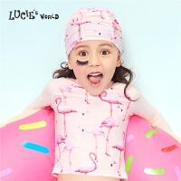 【2件5折:79.5】安莉芳集团LUCIE儿童游泳帽女中大童卡通印花游泳帽NH0003