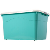 特大号塑料收纳箱衣服整理衣柜储物箱子玩具储蓄周转箱三件套