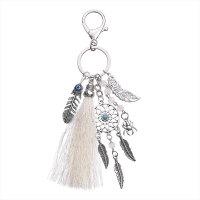 钥匙挂件 女创意实用毛线流苏捕梦网钥匙扣女士包包钥匙链挂件送女生女孩女友朋友礼品