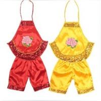 20180823042024848六一儿童演出服装亮片红黄女童男童幼儿园肚兜表演服福娃肚兜套装