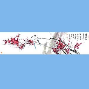 国家一级美术师,中国美术家协会会员,中美协河南创作中心专职画家,河南省国家画协会常务理事沈克明(喜鹊梅花)