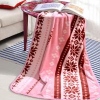 富安娜出品 圣之花 毯子 单人空调房保暖毛毯被 办公室沙发午睡盖毯 宝宝儿童四季法兰绒毯 75*100cm