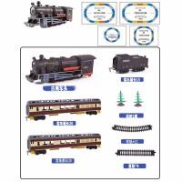 仿真不蒸汽轨道火车玩具古典电动高铁和谐号小火车玩具男孩模型