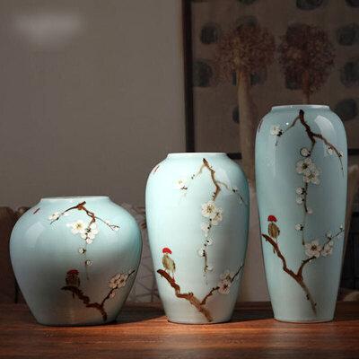 创意家居桌面花瓶餐具个性现代新中式陶瓷花瓶客厅电视酒柜玄关家居装饰品摆件用具