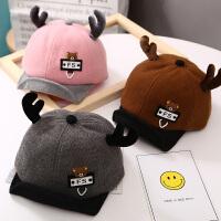 婴儿帽子秋冬6-12个月宝宝棒球帽鸭舌帽遮阳帽