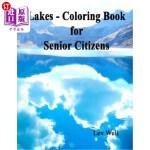 【中商海外直订】Lakes - Coloring Book for Senior Citizens