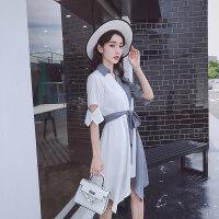 同色系情侣装夏装套装2019新款韩版潮流短袖T恤男QLZ夏季连衣裙女 X
