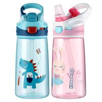 卡通可爱带吸管儿童水杯女学生防摔幼儿园便携宝宝夏季水壶杯子