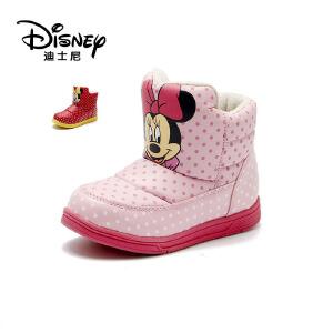 【达芙妮集团】迪士尼 童鞋儿童雪地靴秋冬中小童保暖靴子女童
