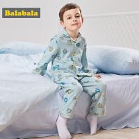 儿童睡衣男孩秋季宝宝家居服棉质套装童装长袖2018