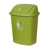 号垃圾桶塑料65L户外使用物业有盖厨房家用无盖教室桶